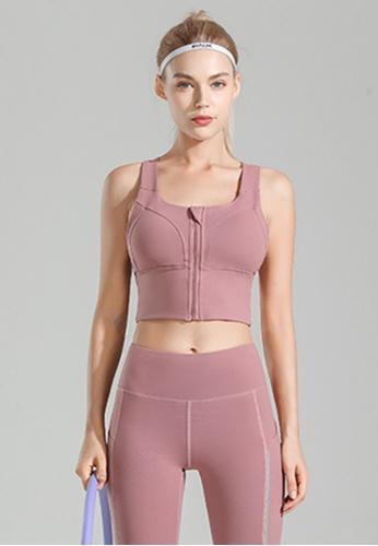 Trendyshop pink Quick-Drying Yoga Fitness Sports Bras C1218US188426FGS_1