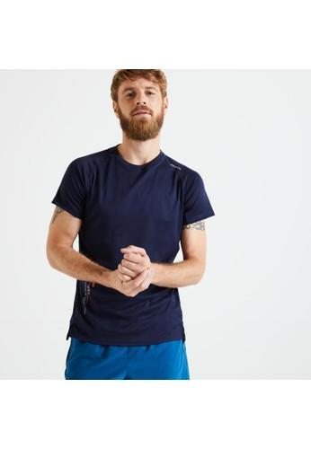 Decathlon Technical Fitness T-Shirt - Navy Blue - 8660149 7967FAA5839F1AGS_1