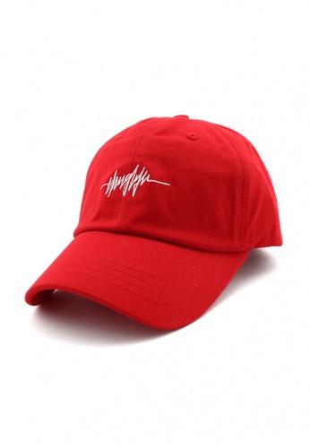 DOSSCAPS red FLIPPER Thug Line Baseball Cap (Red) B6B00ACD42384FGS_1