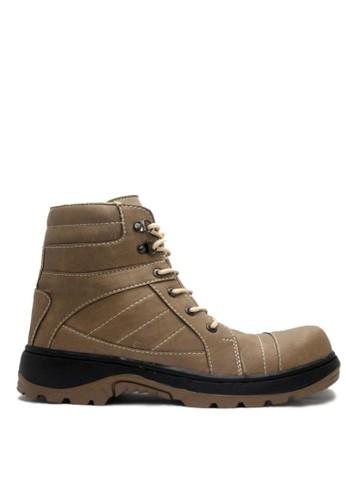 Cut Engineer grey Cut Engineer Armour Safety Boots Iron Leather Grey CU226SH72YFVID_1