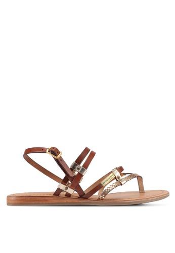 Les Tropeziennes Par M. Belarbi brown Cumin Gold Tan Multi Strap Leather Sandals 44632SH8F3EE18GS_1