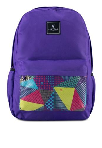 Playboy purple Playboy Casual Backpack PL371AC0SJYLMY_1