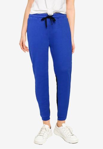 UniqTee blue Contrast Panel Jogger Pants 3B641AA1E33EC3GS_1
