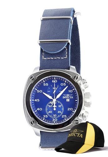 INVICTA silver Invicta Aviator Men Chronograph 54mm Quartz Pilot Watch 19433 w/ Free Official Baseball Cap 714C0AC15DD48DGS_1