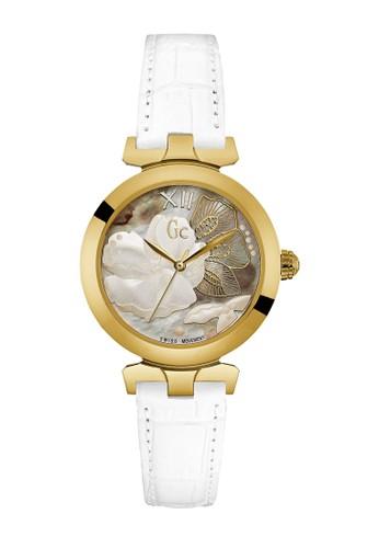 GC Watch white GC Guess Collection Jam Tangan Wanita - White Gold - Leather  Strap - e80d25476e