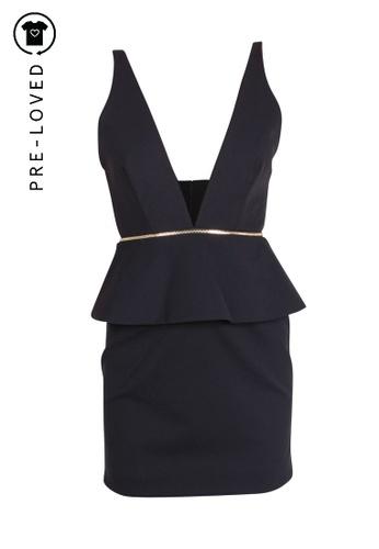 Bec & Bridge black Pre-Loved bec + bridge Mini Spaghetti Dress With Gold Zip 8051CAA4630B6CGS_1