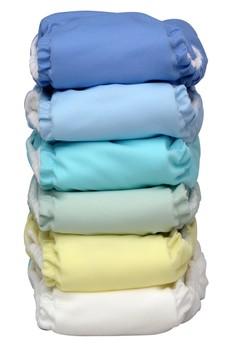 Unisex Pastel 2-in-1 Cloth Baby Diaper set of 6