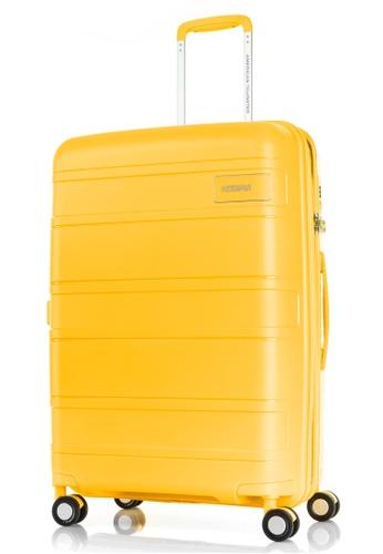 American Tourister yellow American Tourister Litevlo Spinner 69/25 Exp Tsa BCD58AC7A6BCB3GS_1