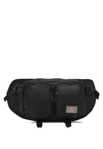 High Cultured black Nylon Pouch Bag HI002AC0SPDNMY_1