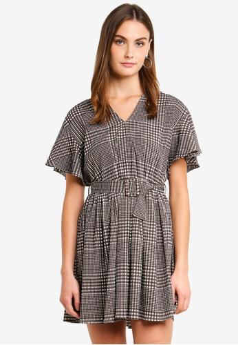 Vero Moda white Oz Short Sleeve Mini Dress 8E05BAA3A98D8CGS_1