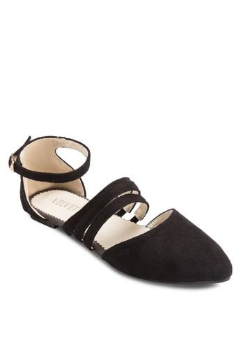 Nellie 多帶仿麂皮平底鞋, 女鞋, esprit服飾鞋