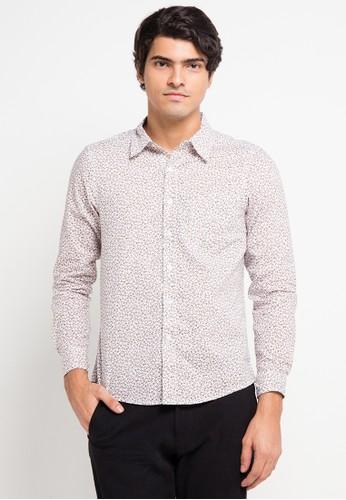 YEGE white and multi Long Sleeve Modern Print Shirt YE201AA0V8YJID_1