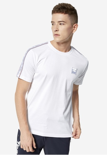 fc86e1fc1083 Buy Fila LOGO Taped T-shirt Online on ZALORA Singapore