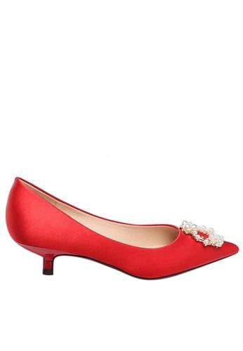 Twenty Eight Shoes 3.5CM綢緞珍珠扣婚鞋 295-11 2CD6CSHDE2A7FFGS_1