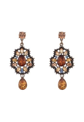 Mango black Rhinestone Crystal Earrings F230BAC633F6C7GS_1