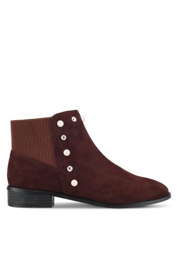 ZALORA 褐色 Pearl Ankle Boots 1BA55ZZ5C0647EGS_1