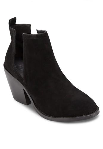 Elle V 鏤空粗跟踝esprit台灣靴, 女鞋, 鞋