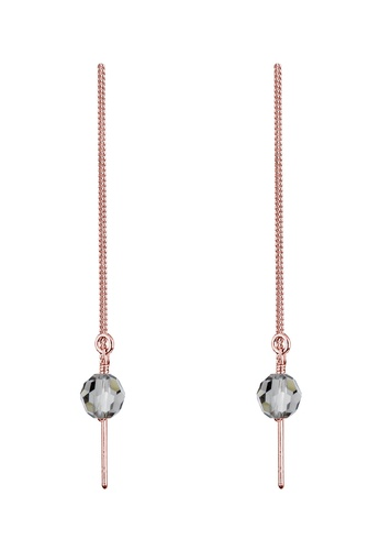 Elli Germany pink and gold Rose Gold Plated Swarovski® Crystals Earrings EL474AC0RFH9MY_1