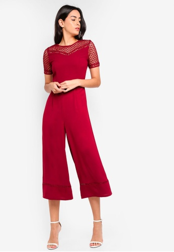 ZALORA red Lace Panel Jumpsuit 01D77AA22C8E61GS_1