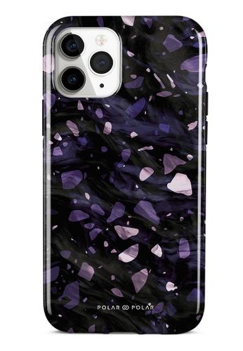 Polar Polar purple Lilac Terrazzo Gem Dual-Layer Tough Case Glossy For iPhone 11 Pro B439EAC1ABDC83GS_1