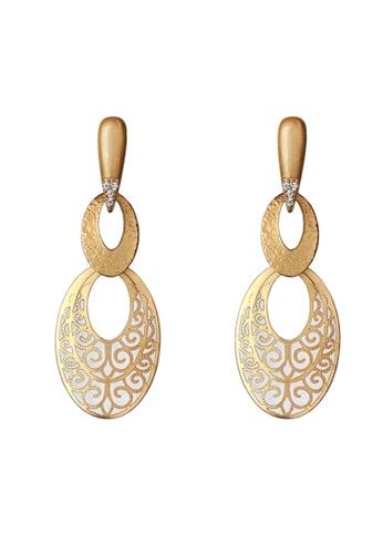 Gung Jewellery gold Dore Triple Hoop Laser Cut Earrings in Matte Gold 60593AC71B67D1GS_1