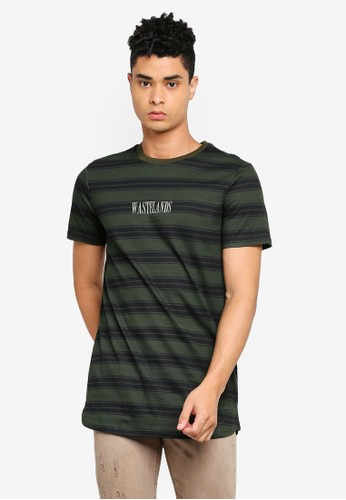 Cotton On green Longline Scoop Hem Tee 6ABD9AACE7C2BCGS_1
