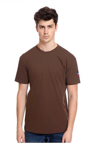 Endorse brown Endorse Tshirt H Flag Basic Brown - END-RK011 5EB84AA8ABC4BBGS_1