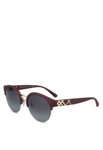 Burberry red The Regent BE4241 Sunglasses BE471GLCA02A73GS_1