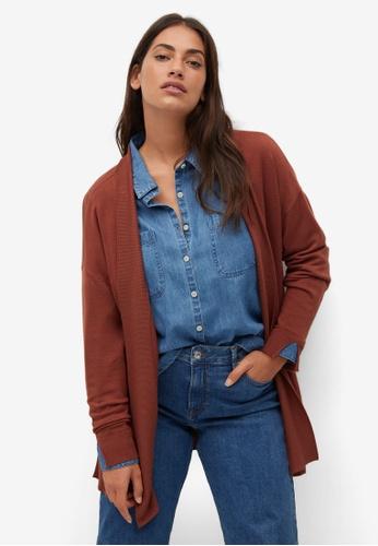 Violeta by MANGO red Plus Size Fine-Knit Cardigan B40BEAAD76568EGS_1