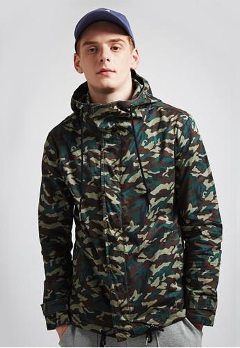 美式街頭。抗皺纖維。esprit 童裝防潑水夾克-07349-迷彩, 服飾, 外套