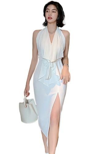 Sunnydaysweety beige Halter One Piece Dress A21022250 A88E1AA0A62D9BGS_1