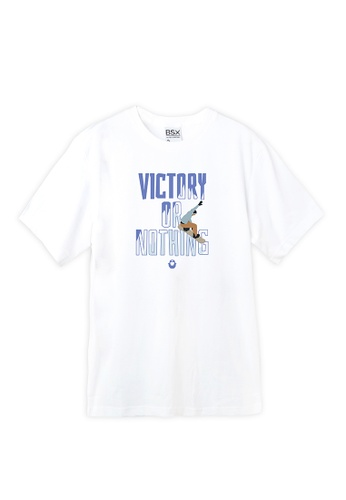 BSX white BSX Unisex's regular fit printed logo tee (Online exclusive) E859DAA45A853EGS_1