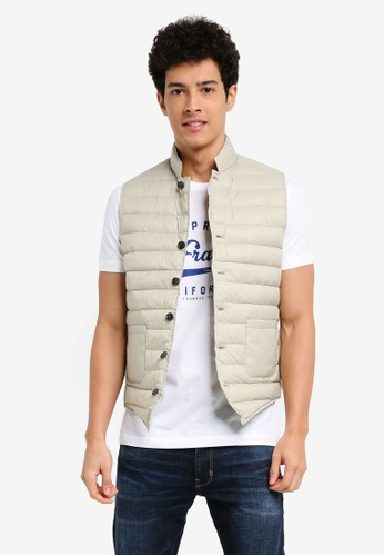 ESPRIT grey Outdoor Woven Regular Vest 0FEFCAA00789B5GS_1