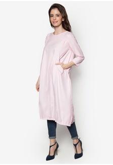 4685ee454332ba Soft Cotton Linen Wrap Back With Pockets Tunic ZA254AA06GJLMY 1