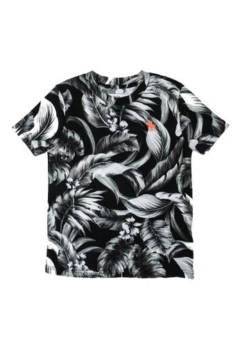 Abercrombie & Fitch black Tropical Pattern T-Shirt 7CBBDKAAFF1066GS_1