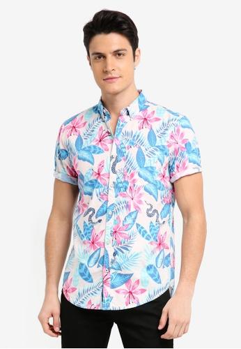 Hollister 粉紅色 Short Sleeve Printed Shirt C3002AADF3B48DGS_1