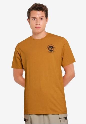 Timberland brown Short Sleeve Archive Hiker Tee 2DA81AA090C04EGS_1