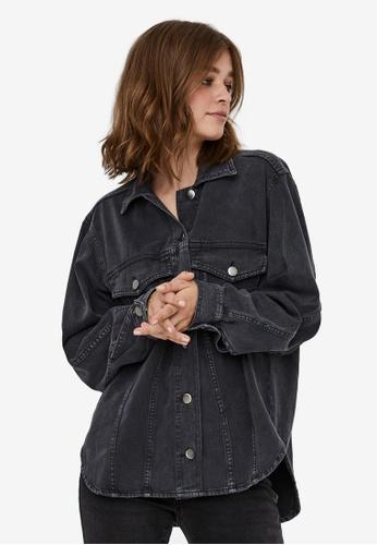 Vero Moda grey Amai Oversize Shirt Jacket 9BC07AA4A6A064GS_1