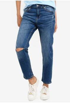 57b5a34d57b OVS blue Boyfriend Denim Slim Fit Jeans 2E6A7AAC63FDC1GS_1