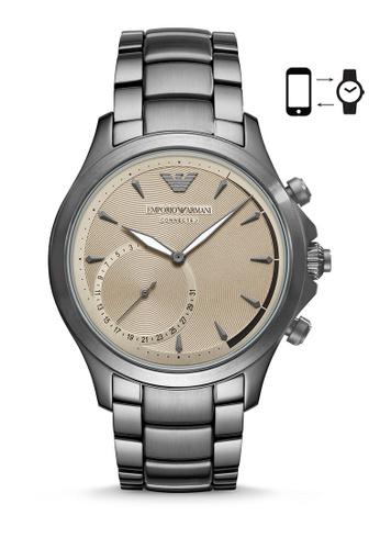 ARMANI grey Emporio Armani Alberto Smart Watch ART3017 6166BACC653DF7GS_1