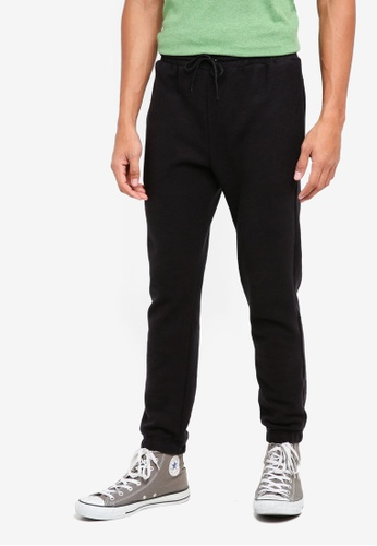 UniqTee black Basic Jogging Trousers 6C417AA6E56004GS_1