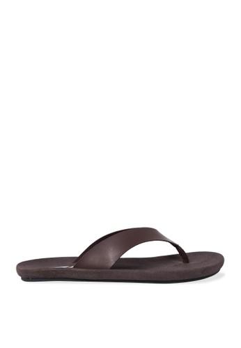 Minarno brown Brown Zain Strap Sandals DA098SH04A4FF3GS_1
