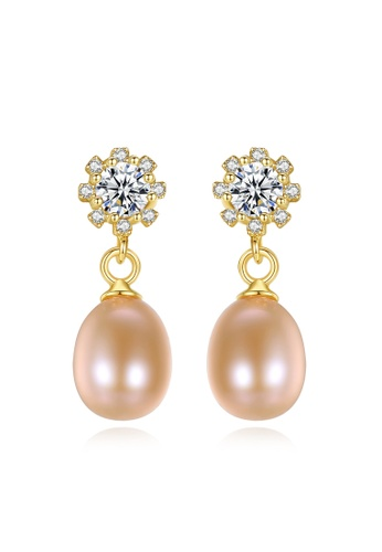 A.Excellence pink Premium Pink Pearl Elegant Earring 9F244ACFF52259GS_1