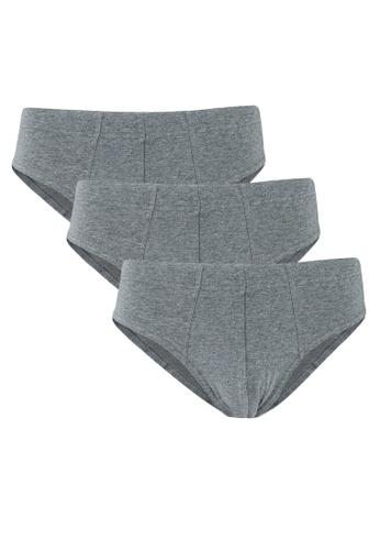 OVS grey 3 Pack Plain Briefs 7E3CBUS2A9F496GS_1