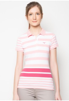 Engineered Stripes Polo Tee