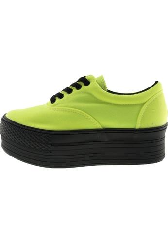 Maxstar 綠色 新款韩国鞋C50-5H時尚帆布布混合女綠色 US Women Size MA345SH95GTKTW_1