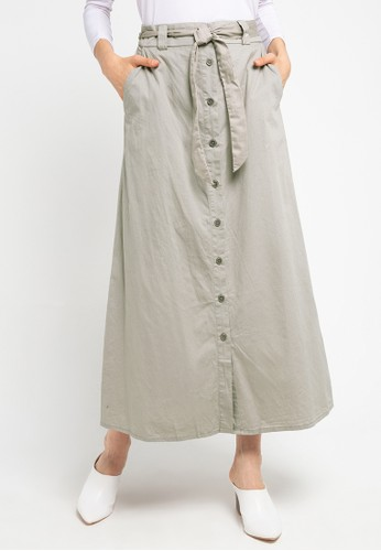 Exit grey Olivia Skirt With Button And Waistrape CD659AAAB2E8E5GS_1