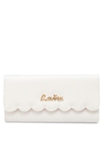 扇貝邊飾仿皮長esprit專櫃皮夾, 包, 飾品配件
