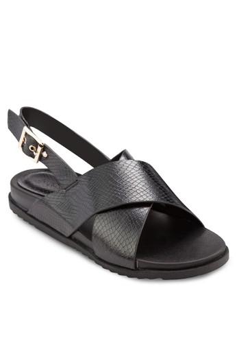 交叉帶繞踝涼鞋, 女鞋esprit outlet hong kong, 鞋