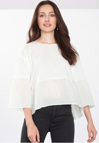 寬擺七分袖T-shirt、 服飾、 上衣ESPRIT寬擺七分袖上衣最新折價